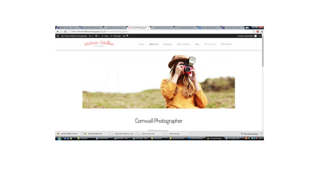 About me Victoria Walker1 1024x576 1 - New Website has launched! Victoria walker photography