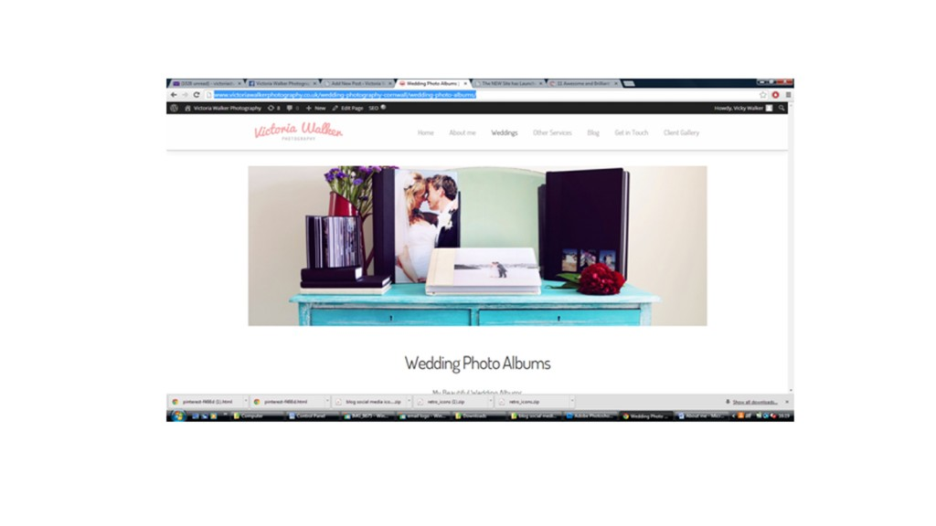 Albums wedding 1024x576 1 - New Website has launched! Victoria walker photography