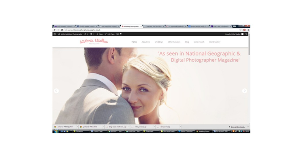 Homepage Victoria walker photography 1024x576 1 - New Website has launched! Victoria walker photography