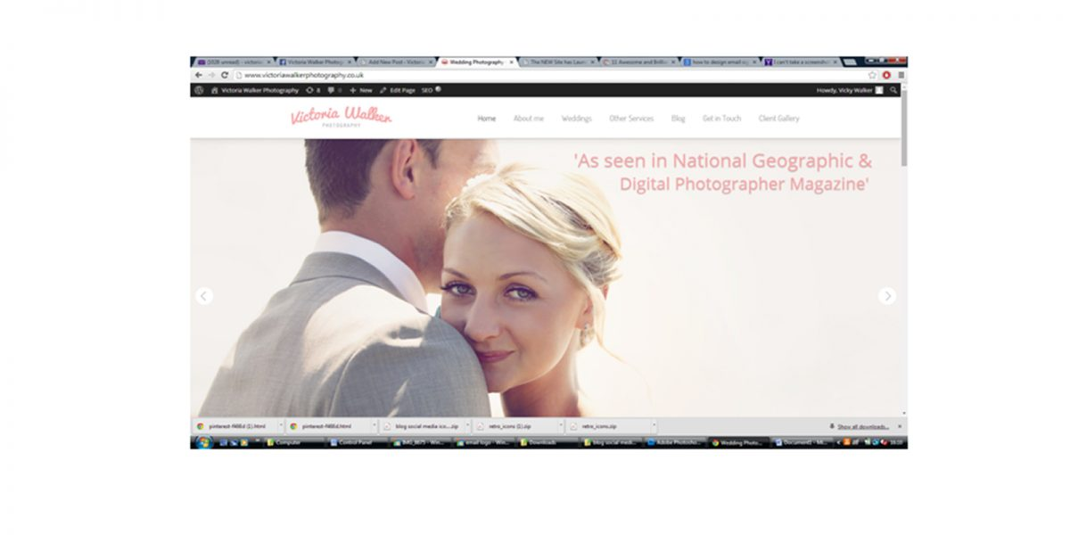 Homepage Victoria walker photography 1200x600 - New Website has launched! Victoria walker photography
