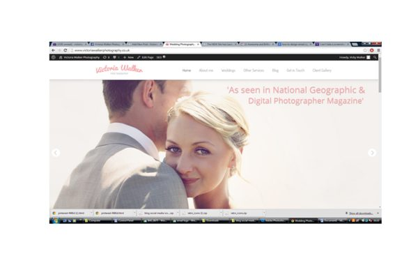 Homepage Victoria walker photography 600x400 - New Website has launched! Victoria walker photography
